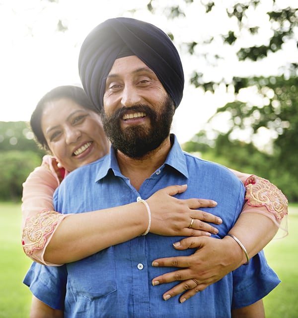 Happy South Asian Couple